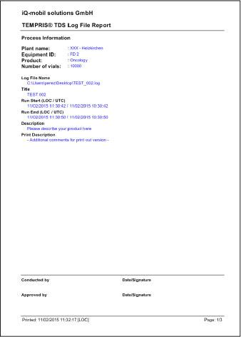 TEMPRIS DataServer - Log File
