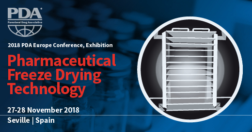 Banner for Freeze Drying Conference in Seville, Spain by PDA Europe